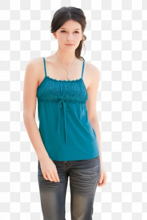 Neck Cobalt Blue - Clothing Blue Aqua Turquoise Camisoles PNG