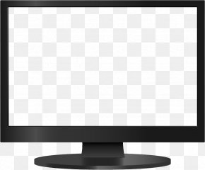 Monitor Image - Computer Monitor Text Black And White Pattern PNG