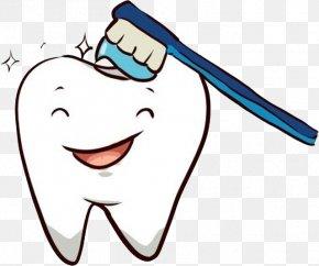 Teeth And Toothbrush - Pediatric Dentistry Dental Braces Clip Art PNG