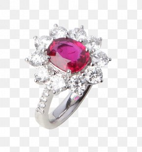 Ruby And Diamond Ring - Wedding Ring Jewellery Ruby Gemstone PNG