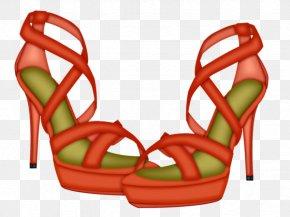 A Pair Of Sandals - Sandal High-heeled Footwear Shoe Clip Art PNG