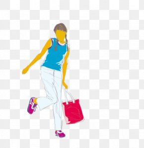Shopping Woman Standing - Woman Icon PNG