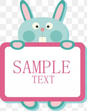 Bunny Message Board - Rabbit PNG