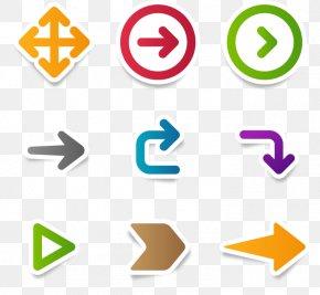 Colorful Origami Arrow - Arrow Euclidean Vector Shape Icon PNG