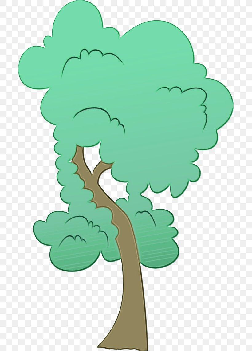Green Cartoon Clip Art Leaf Tree, PNG, 701x1139px, Watercolor, Cartoon, Green, Leaf, Paint Download Free