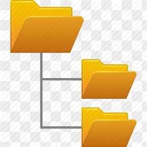 System Folder Tree Yellow Icon - Directory Structure Mbox File System PNG