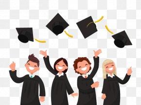 Congratulations Graduates Cartoon Congratulati - Graduation Ceremony Vector Graphics Illustration Diploma University PNG