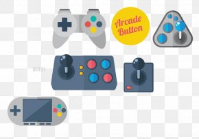 Game Controller Buttons On The Remote - Joystick Video Game Console Game Controller Euclidean Vector PNG