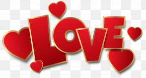 Red Love Transparent Clip Art Image - Love Heart Clip Art PNG