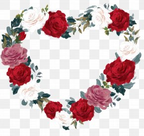 Wreath Material - Valentine's Day Gift Garden Roses 14 February Flower Bouquet PNG