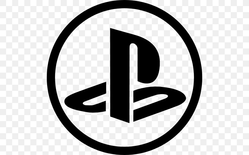 PlayStation 2 PlayStation 4 Logo, PNG, 512x512px, Playstation 2, Area, Black And White, Brand, Logo Download Free