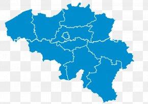 Map - Provinces Of Belgium Namur Flemish Region Map PNG