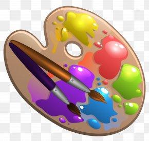 Palette Cliparts - Palette Painting Art Clip Art PNG