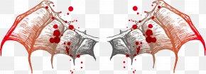 Vector Bat Wings Blood Drop - Bat Wing Euclidean Vector PNG