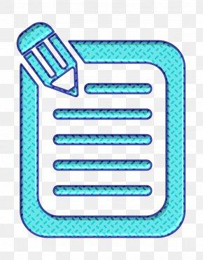 Aqua Write Icon - Compose Icon Content Icon Document Icon PNG
