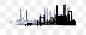 Vector Black Coal Factory - Oil Refinery Euclidean Vector Petroleum Refining PNG