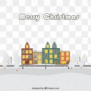 Christmas Eve Snow Town - Christmas Eve Snow PNG