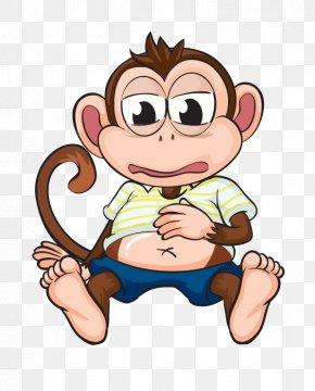 Cute Cartoon Monkey - Chimpanzee Ape Monkey Cartoon Clip Art PNG