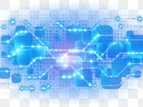 Blue Light Effect Background Decoration - Light Blue Technology PNG