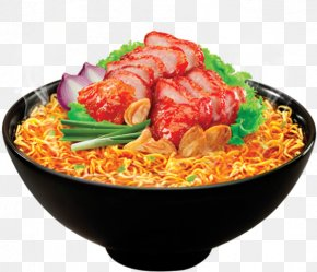 Char Siu Pork - Chinese Cuisine Char Siu Instant Noodle Food PNG