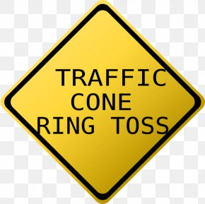 Ring Toss - School Zone Traffic Sign Driving College PNG