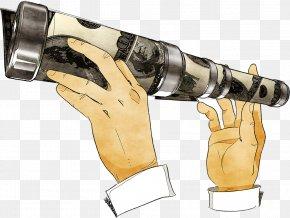 Holding Binoculars - Telescope Binoculars Cartoon PNG