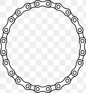Circle Chain Cliparts - Bicycle Chain Clip Art PNG