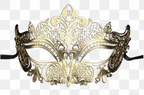 Masquerade - Columbina Masquerade Ball Mask Gold PNG