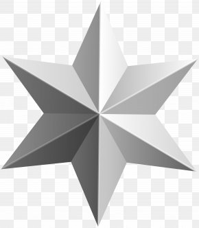 Silver Star Transparent Clip Art Image - Star Gold Clip Art PNG