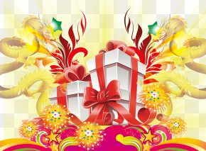 Chinese New Year Gift Wind Creative Background - Gift Chinese New Year Designer Mid-Autumn Festival PNG