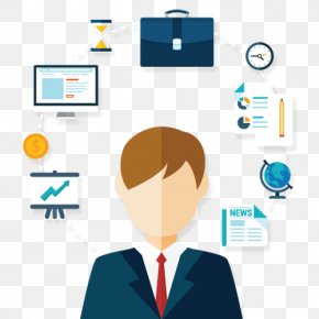 Marketing - Infographic Businessperson Management Consultant Resource PNG