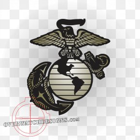 Evergreen Marine Corp - Eagle, Globe, And Anchor Decal United States Marine Corps Sticker PNG