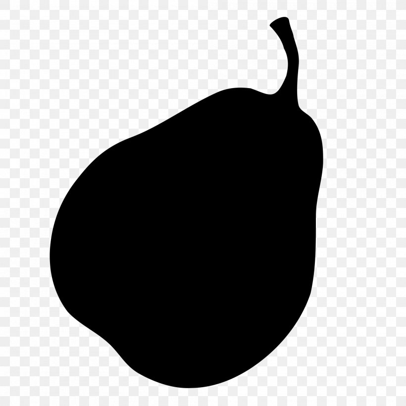 Pear Apple Clip Art, PNG, 2000x2000px, Pear, Apple, Black, Black And White, Drawing Download Free