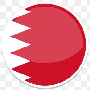 Bahrain - Circle Red Font PNG