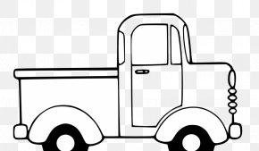 Black And White Car Pictures - Pickup Truck Van Car Clip Art PNG