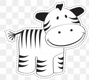 Vector Black And White Calf - Royalty-free Illustration PNG
