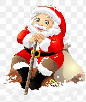 Santa Sleigh - Santa Claus Christmas Ded Moroz Clip Art PNG