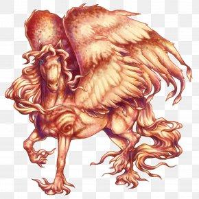Fire Pegasus - Pegasus Flame Illustration PNG