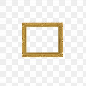 Gold Frame - Square Area Angle Pattern PNG