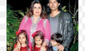 Family - Farah Khan Family Bollywood Film Director Female PNG