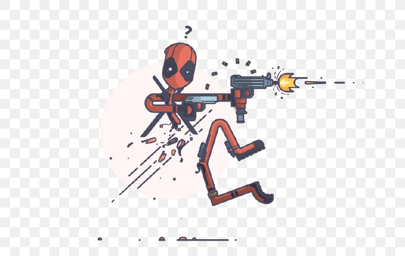 Deadpool Illustration, PNG, 690x518px, Deadpool, Art, Cartoon, Digital Illustration, Drawing Download Free