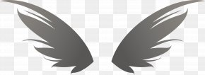 Monochrome Vector Wing Wings - Wing Monochrome PNG