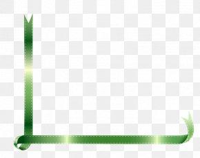 Green Ribbon Edge - With Ribbon Green PNG
