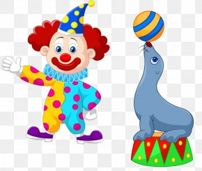 Cartoon Clown - Circus Stock Illustration Clip Art PNG