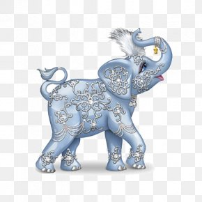 Blue Elephant - Painter Of Light Collectable Figurine Collecting Painting PNG