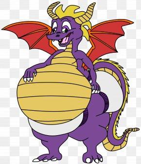 Cartoon Spyro - Dragon Background PNG