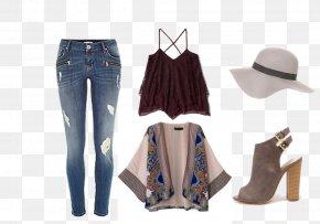 Jeans Creative - Jeans Denim Kimono Fashion Shoe PNG