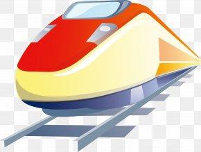 Motor Car Decoration Design Vector - Korea Train Express High-speed Rail Icon PNG
