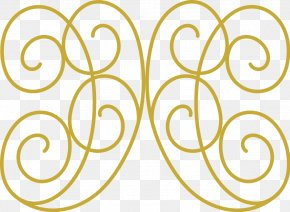 Swirl Cliparts - Gold Clip Art PNG