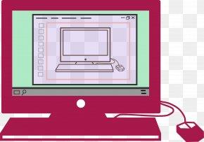 Pink Laptop - Laptop MacBook Macintosh Computer Monitor PNG